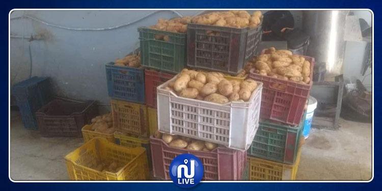 حجز عشرات الأطنان من البطاطا والمواد المختلفة بقيمة 1.8 مليون دينار