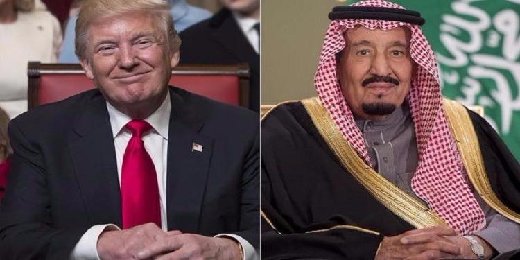 e3e51a2b1 ترامب يحث الملك سلمان على حل الأزمة الخليجية