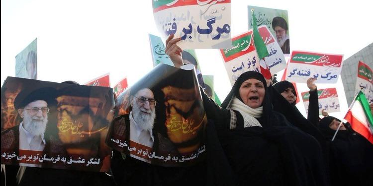 إيران: تواصل التظاهرات المساندة للنظام بعد صلاة الجمعة