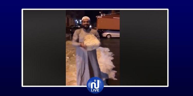 بَرَد.. ثلوج وأمطار..تقلبات جوية في المملكة السعودية (فيديو)
