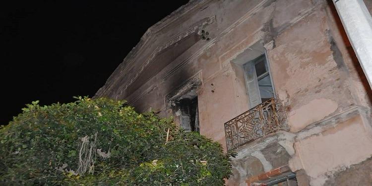 سوسة: حريق في بناية قديمة للمعهد الثانوي باب الجديد
