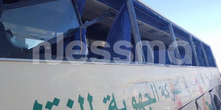 المتلوي: اصابة أكثر من 30 شخصا في حادث اصطدام شاحنة نقل فسفاط بحافلة
