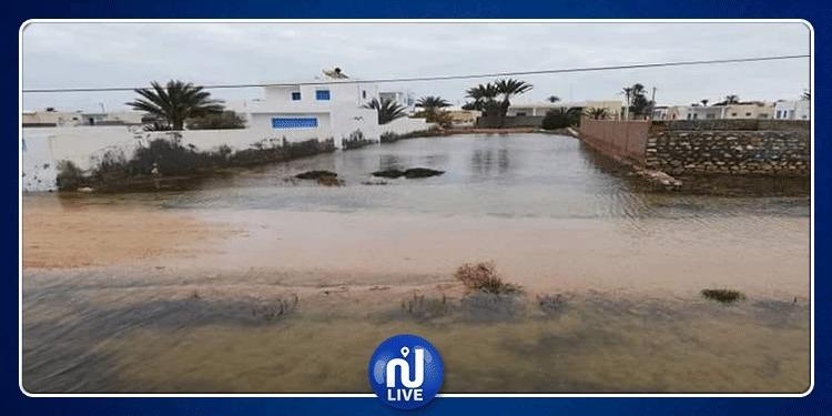 Kerkennah : Une pompe géante pour évacuer des eaux pluviales...