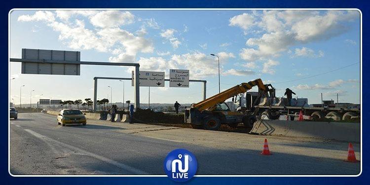 La route régionale numéro 21, fermée à la circulation, ce vendredi