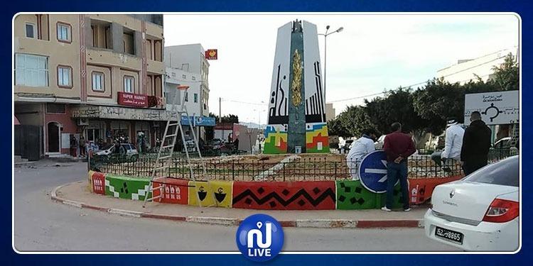 مواطنون يزيّنون شوارع السبيخة بالألوان (صور)