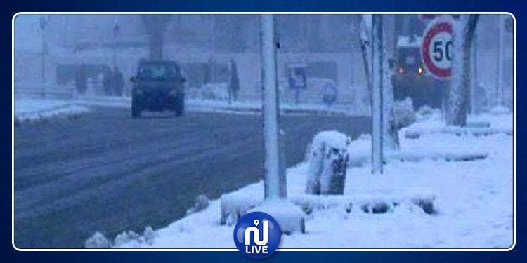 La neige réapparaît dans la région frontalière de Kasserine