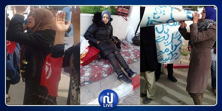 معتصمات الصمود يقررن تنفيذ إضراب جوع وحشي أمام قصر الحكومة بالقصبة