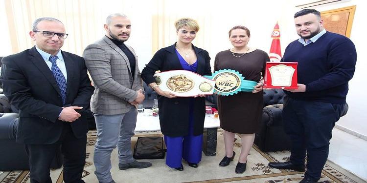ماجدولين تستقبل لبطلة التونسية للملاكمة النسائية اكرام كروات