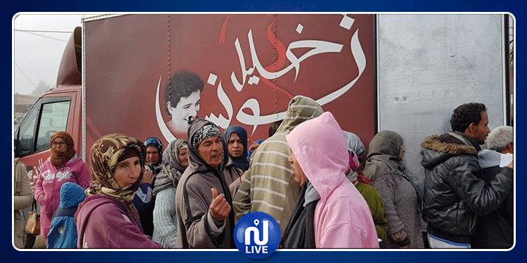 قافلة الخير لجمعية 'خليل تونس' تحط الرّحال في ولاية جندوبة (صور)