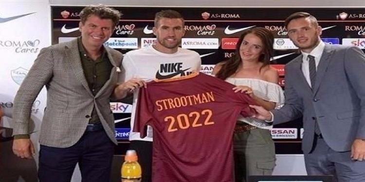 الهولندي ستروتمان يمدد عقده مع روما حتى 2022