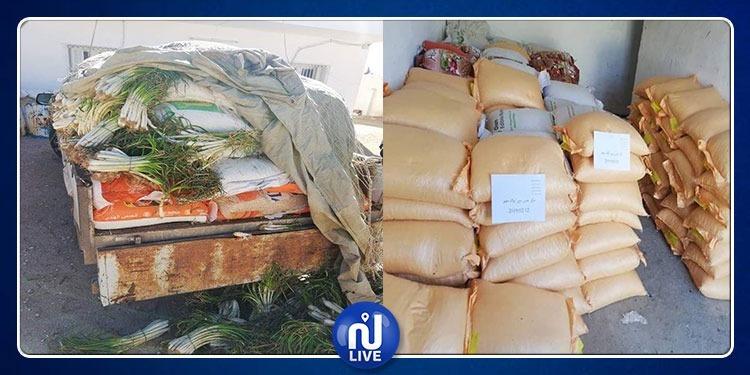 سيدي بوزيد: حجز 4 شاحنات مٌحملة بعديد المواد الاستهلاكية