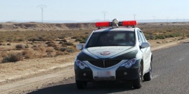تطاوين: انقلاب سيارة حرس وطني و إصابة عونين