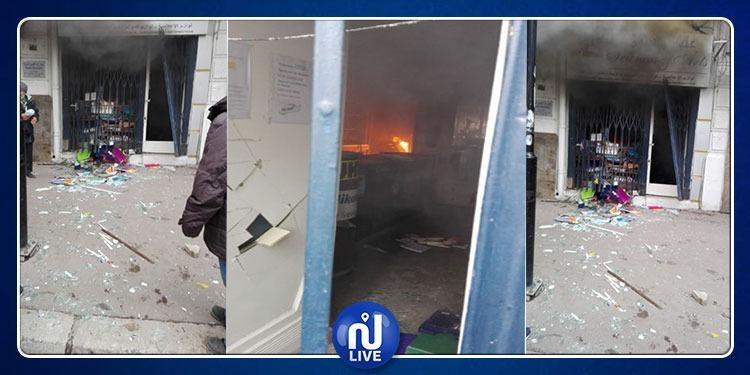 حريق وإنفجار في شارع قرطاج: تحويل إتّجاه حركة المرور