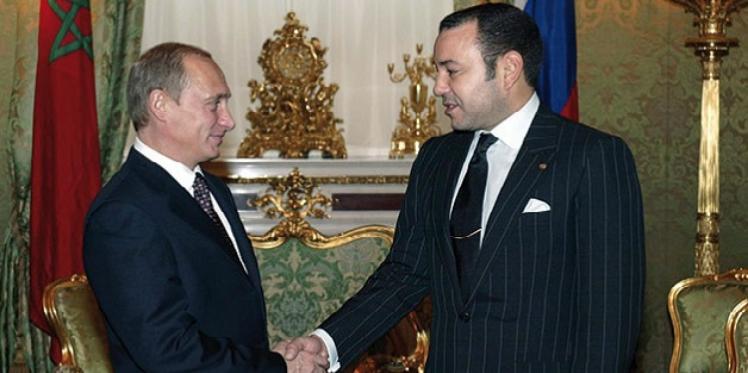 روسيا :  فلاديمير بوتين يستقبل ملك المغرب محمد السادس