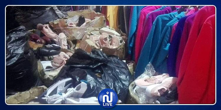 العوينة: حجز أكثر من 1200 قطعة من الملابس الجاهزة (صور)