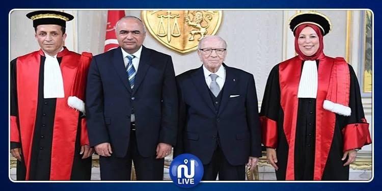 نائلة القلال وحسين عمارة يؤديان اليمين الدستورية