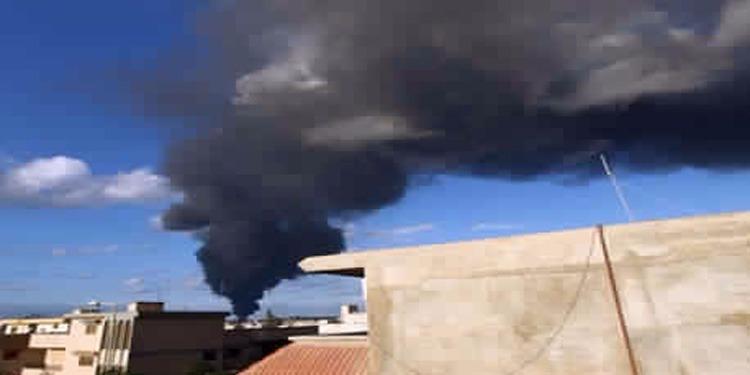 طائرات القوات الموالية لحكومة شرق ليبيا تقصف داعش في درنة