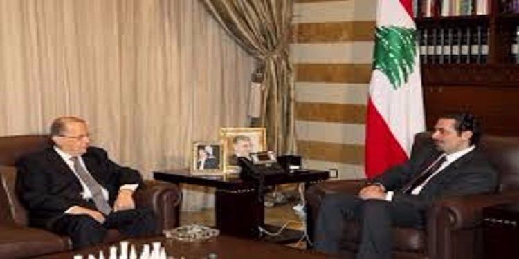 عون يجري محادثات حول حكومة الحريري