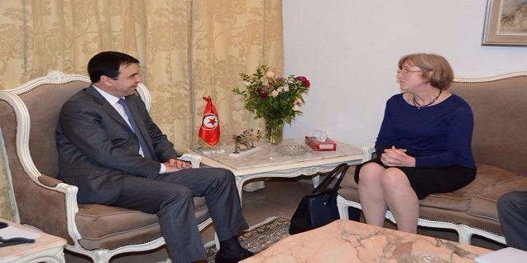 وزير الدّاخلية يستقبل سفيرة المملكة المتحدة في تونس