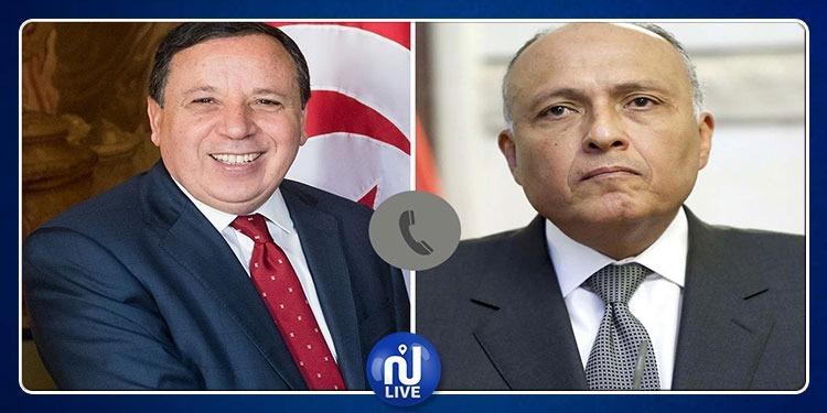 مكالمة هاتفية بين وزيري خارجية تونس ومصر حول الوضع في ليبيا