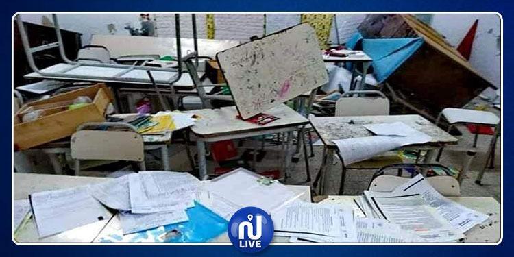 الإعتداء على المدرسة الإبتدائية صالح بن صالح بالمكنين