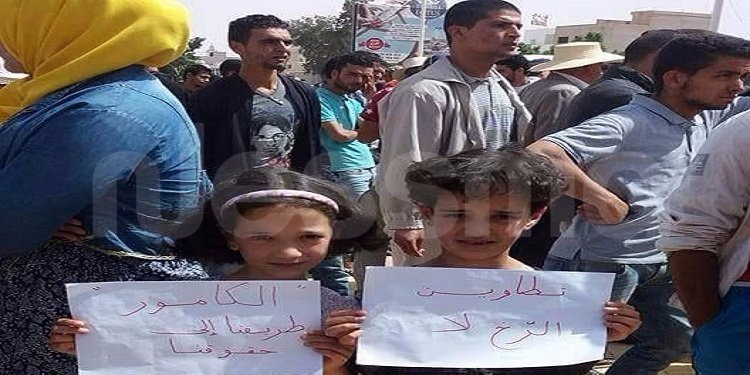 تطاوين: وقفة احتجاجية لمساندة معتصمي الكامور (صور)