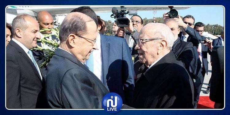 رئيس الجمهورية يستقبل الرئيس اللبناني ميشال عون (صور)