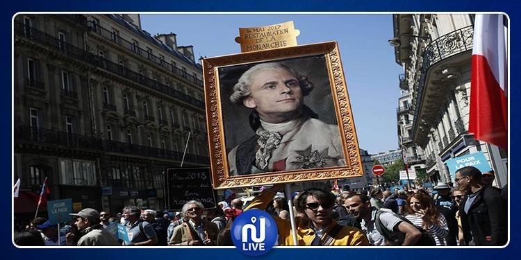 ماكرون يستنجد بـ ''لويس السادس عشر'' للسيطرة على الاحتجاجات!