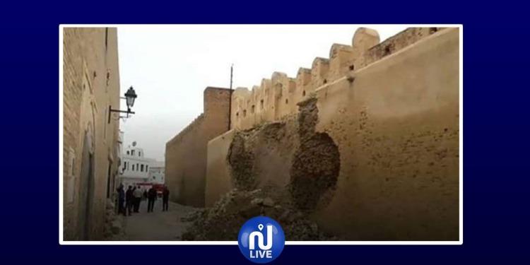 القيروان: انهيار جزء من سور المدينة العتيقة قبل أيام من المولد