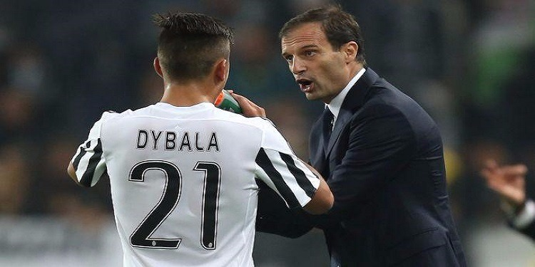 مدرب جوفنتس أليغري يتحدث عن إصابة ديبالا وعن لقاء العودة ضد برشلونة الإسباني