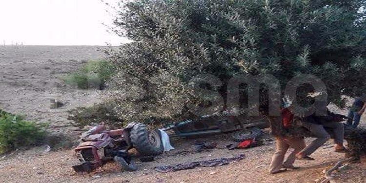 باجة : إنقلاب جرار يسفر عن وفاة شاب وإصابة آخر