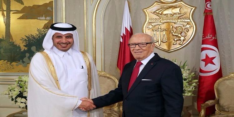 رئيس الجمهورية يستقبل رئيس مجلس الوزراء وزير الداخلية القطري