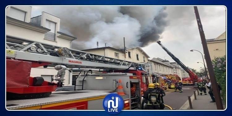 France : Un grand incendie, à Versailles