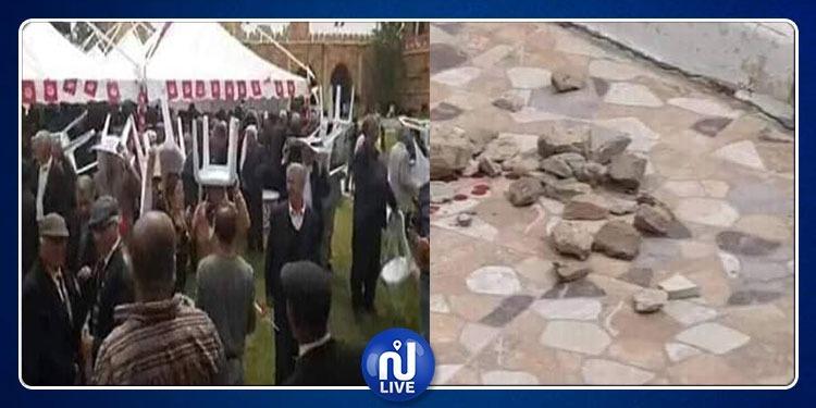 سيدي بوزيد: رشق اجتماع الحزب الدستوري الحر بالحجارة وتسجيل اصابات
