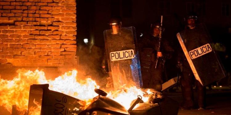 Espagne-Madrid: 10 policiers blessés lors d'une protestation