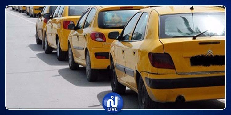 Rassemblement des taxistes devant le gouvernorat de la Manouba
