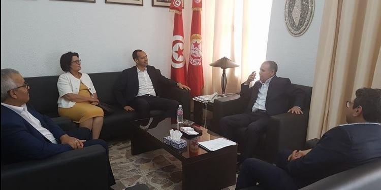 Entretien de Noureddine Taboubi avec une délégation d'Afek Tounès