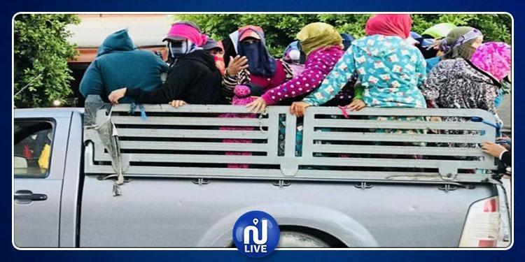 فوشانة: ضبط شاحنتين معدتين لنقل العاملات الفلاحيات دون ترخيص