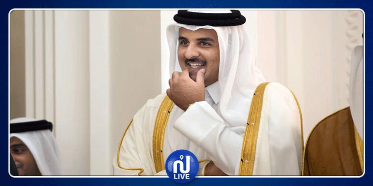 وصول أمير قطر إلى تونس