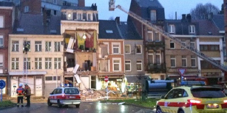 انفجار في بروكسل يسفر عن 7 مصابين وتدمير مبنيين