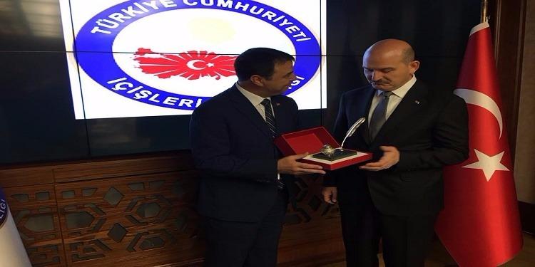 الهادي مجدوب يلتقي وزير الدّاخليّة التركي
