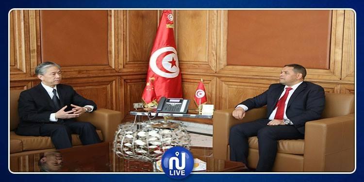 وزير أملاك الدولة يلتقي سفير الصين بتونس