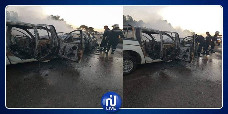 بن قردان: وفاة شاب وإصابة آخرين في حادث اصطدام سيارتين واحتراقهما