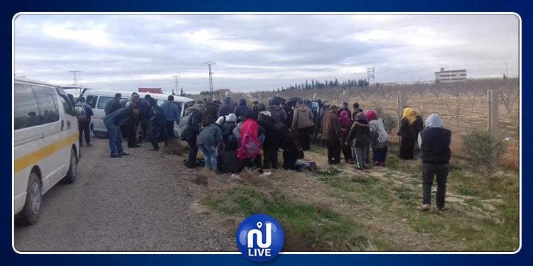 سبيبة: قتيل و 9 مصابين في حادث اصطدام سيارة نقل ريفي بسيارة أخرى