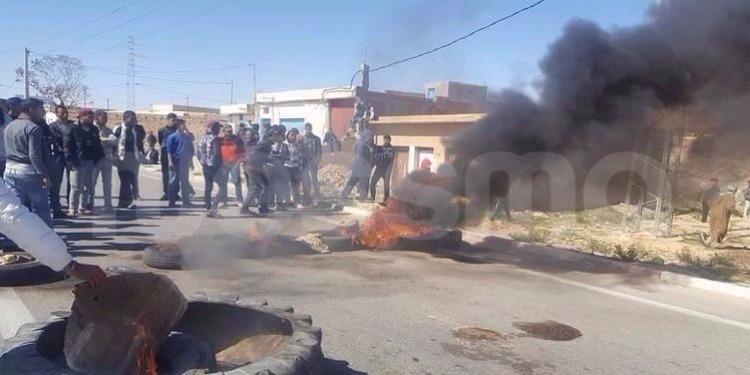 تطاوين: عودة الإحتجاجات بمنطقة بئر ثلاثين
