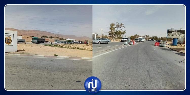 قفصة: عائلة الراعي مختار عاشور تغلق الطريق الوطنية 15