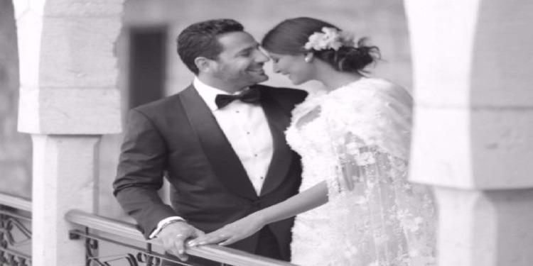 أول ظهور للعروسين ريم السعيدي ووسام بريدي بعد الزواج (صور)