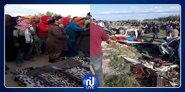 أهالي الرقاب يحتجّون إثر وفاة العاملات الفلاحيات بمنطقة السبالة