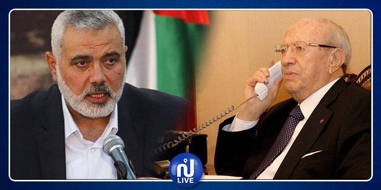 إسماعيل هنية يهاتف الباجي قايد السبسي وهذا ما دار بينهما