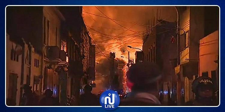 Pérou: Un centre historique de Lima part en fumée…